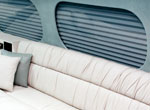 Window shades for a BAC 111